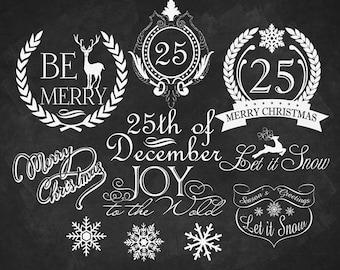Christmas clipart Chalkboard Christmas chalkboard clipart Digital stamp Digital chalkboard  Digital chalk Chalkboard background