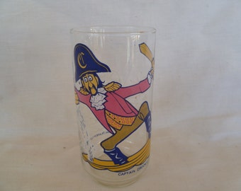 McDonalds Captain Crook Drinking Glass Action Series Vintage 1977