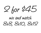 """Save 25% on Two 8""""x8"""", 8""""x10"""", or 8""""x12"""" photo prints - mix & match"""