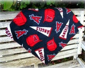 Lovey, Mini Blanket in Los Angeles Angels Baseball Fleece, Baby shower gift
