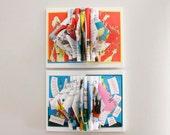 Wall Art for Nursery, Dr. Seuss Decor, Book Sculptures