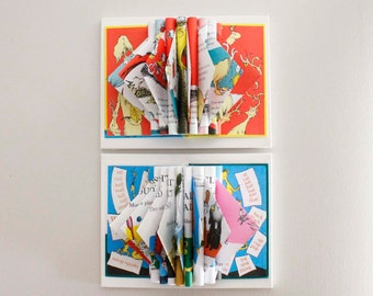 Wall Art for Nursery, Dr. Seuss Decor, Book Sculptures