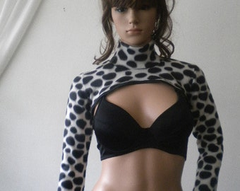 Ladies bolero fleece and satin -Dalmatians.