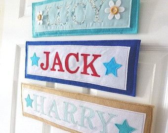 Personalized name sign, name plaque, Banner, nursery decor, baby gift, rectangle design