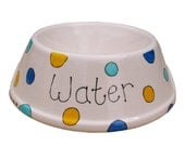 Spotted Cat or Small Dog Bowl Personalised Custom As seen in your cat magazine your dog magazine and the sun