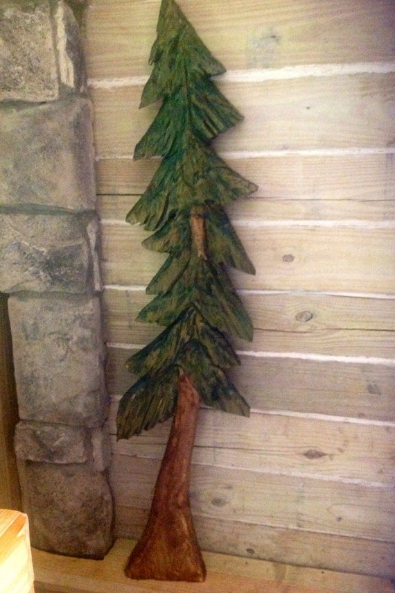 Pine tree ft chainsaw carving evergreen indoor or by