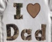 RealTree Camo I Love Dad Onesie