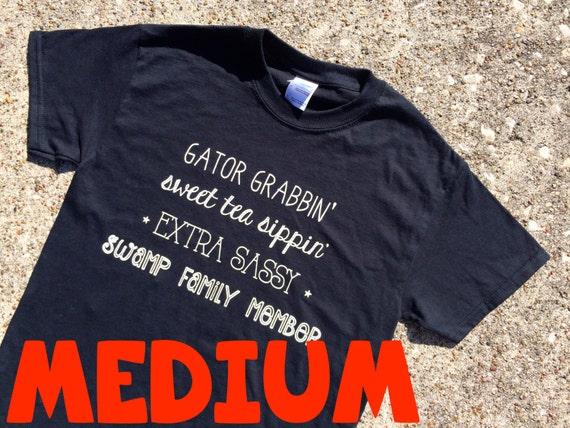 MEDIUM sassy words BLACK t-shirt