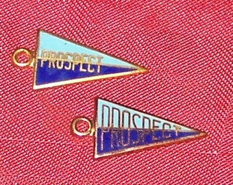 Pair of Prospect High School Pennant Charms
