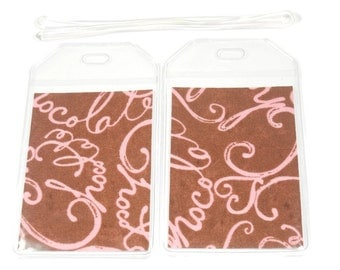 SALE Luggage Tags Set of 2 Chocolate