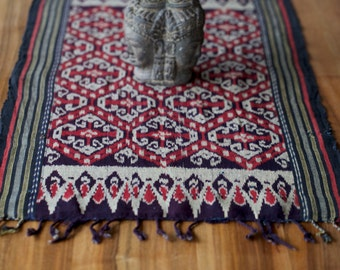 Vintage, ikat, Indonesian weaving
