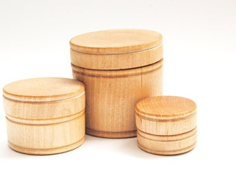 Organic Natural Wood Stacking and Nesting Jars - A Waldorf and Montessori Inspired Learning Baby Toy