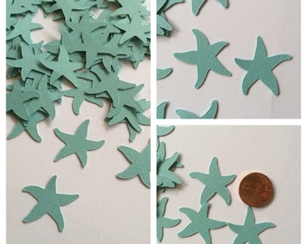 100 Aqua Starfish Confetti, Beach Party, Starfish Decorations, Sea Life, Beach Party Decoration, Party Confetti, Turquoise Aqua Starfish