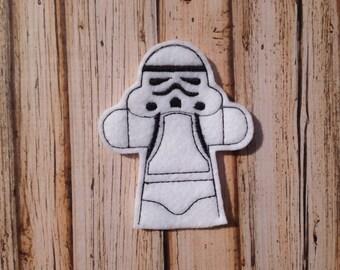 Storm Trooper Inspired Finger Puppet