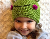 Girls Sparkly Frog Hat...sizes newborn to adult hat- photography prop- winter hat- sparkly hat- girls crochet hat