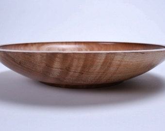 "Spalted Fiddleback Big Leaf Maple Wooden Bowl #1277 11"" X 2 1/8"""