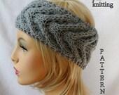 Knit Ear Warmer Pattern, Knit Headband pattern, Knit Staghorn Ear Warmer pattern for adults and teens