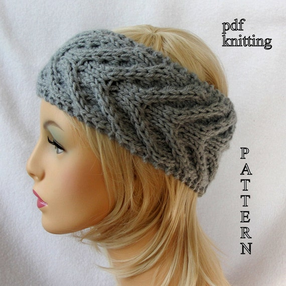 Knit Headband Ear Warmer Pattern : Knit Ear Warmer Pattern, Knit Headband pattern, Knit Staghorn Ear Warmer patt...
