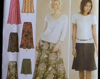 Simplicity 4881 Misses Set of 6 Skirts Sewing Pattern  Sz 6-12