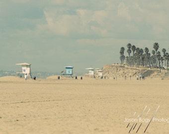 Warm Glow Beach Scene - California Beach