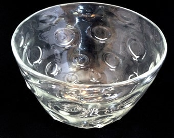Crystal Blown Glass O-patterened Bowl, centerpiece, wedding decor