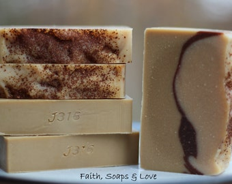 Sandalwood Goats Milk Soap - Homemade Bar Soap - Sandalwood Handmade Soap - Scripture - John 3:16 - Christian Soap - Bible Study Gift