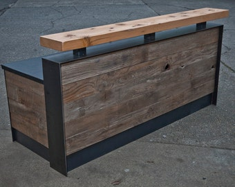 Reclaimed Reception Desk