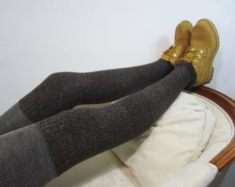 Skinny Brown Thigh Highs Leg Warmers Boot Socks Over the Knee Sock A1381