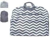 Personalized GREY CHEVRON  Garment Bag Travel Luggage  Womans