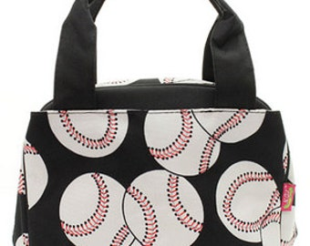 Personalized Boys Insulated Lunch bag-BASEBALLS