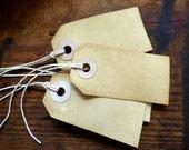 Custom Order for Brigitte - 80 plain tea dyed vintage style tags