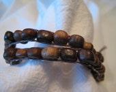 SALE!  Chunky Wood Bead Wrap Bracelet  WAS 20 dollars NOW half off!