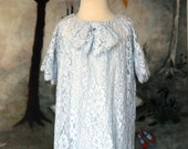"Sample Sale: Baby Blue Lace Bow Flower Girl Dress, ""Gabriela"" size 2"