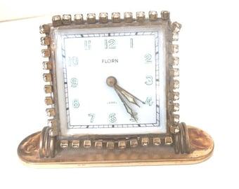 Florn Vanity Clock Germany American Sector Circa 1950s