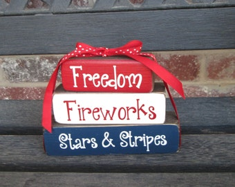 "4th of July blocks--Fireworks ""MINI""stacker"