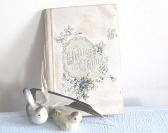 Wedding Chimes Antique Keepsake Book / Victorian Poetry and Wedding Certificate Book
