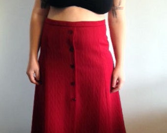 70s Red Dance if You Wanna Skirt