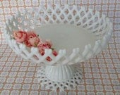 Vintage milk glass bowl serveware