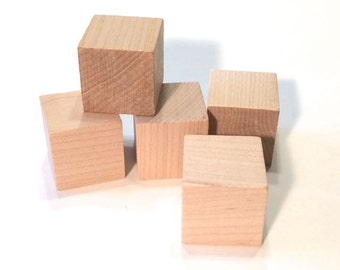 25 Wooden Blocks - 25 blocks 1 inch Cubes