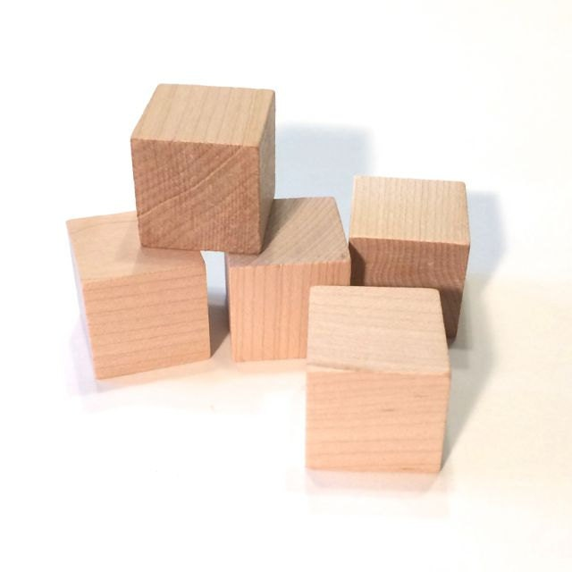 25 bloques de madera 25 bloques de cubos de 1 pulgada - Cubos de madera ...