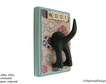 DogTail Leash Holder - Just the Paws -  Personalize It with Optional Letter Tiles