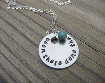 "Inspiration Necklace- ""been there done that"" with an accent bead of your choice"