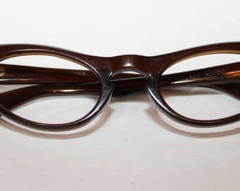 1960s French Made Brown Womans  Eye Frames