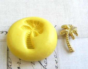PALM TREE - Flexible Silicone Mold - Push Mold, Jewelry Mold, Polymer Clay Mold, Resin Mold, Craft Mold, Food Mold, PMC Mold