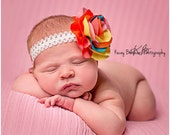 Baby headband, newborn headband, adult headband, child headband and photography prop The single sprinkled-COLORBURST headband