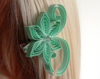 Mint Wedding, Mint Hair Clip, Mint Hair Accessory