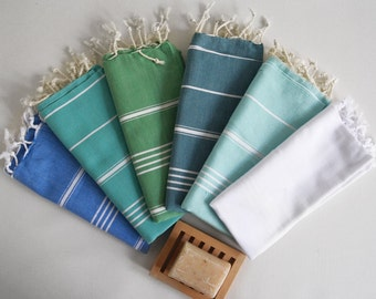SALE 50 OFF/ Head and Hand Towel / Classic Style / SET / 6 Towels