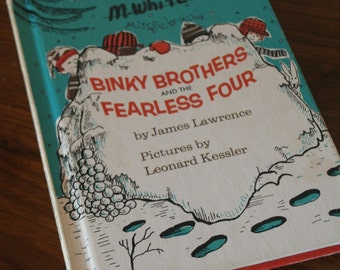 Binky Brothers and the Fearless Four by James Lawrence and Pictures by Leonard Kessler - An I Can Read Mystery -Vintage Hardcover Children's