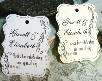 Wedding Favor Tag, Personalized Gift Tags or Shower Favor Tags, Custom Labels, Custom Gift Card No. 1