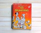 Spiral notebook/ sketchbook/ 101 Dalmatians/ Little Golden Book/ Recycled journal/ spiral journal/ Upcycled book